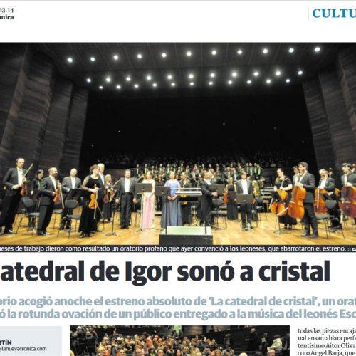 LA CATEDRAL DE IGOR SONÓ A CRISTAL